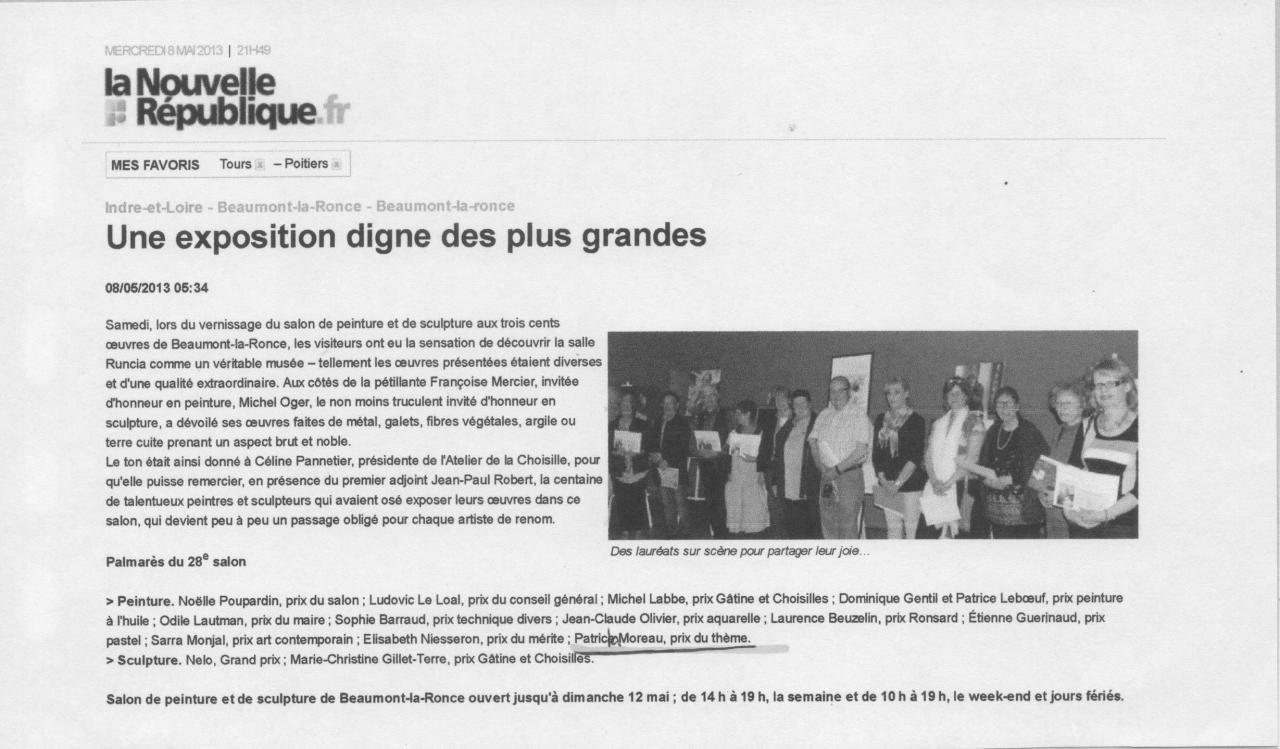 2013 salon de Beaumont-la-Ronce