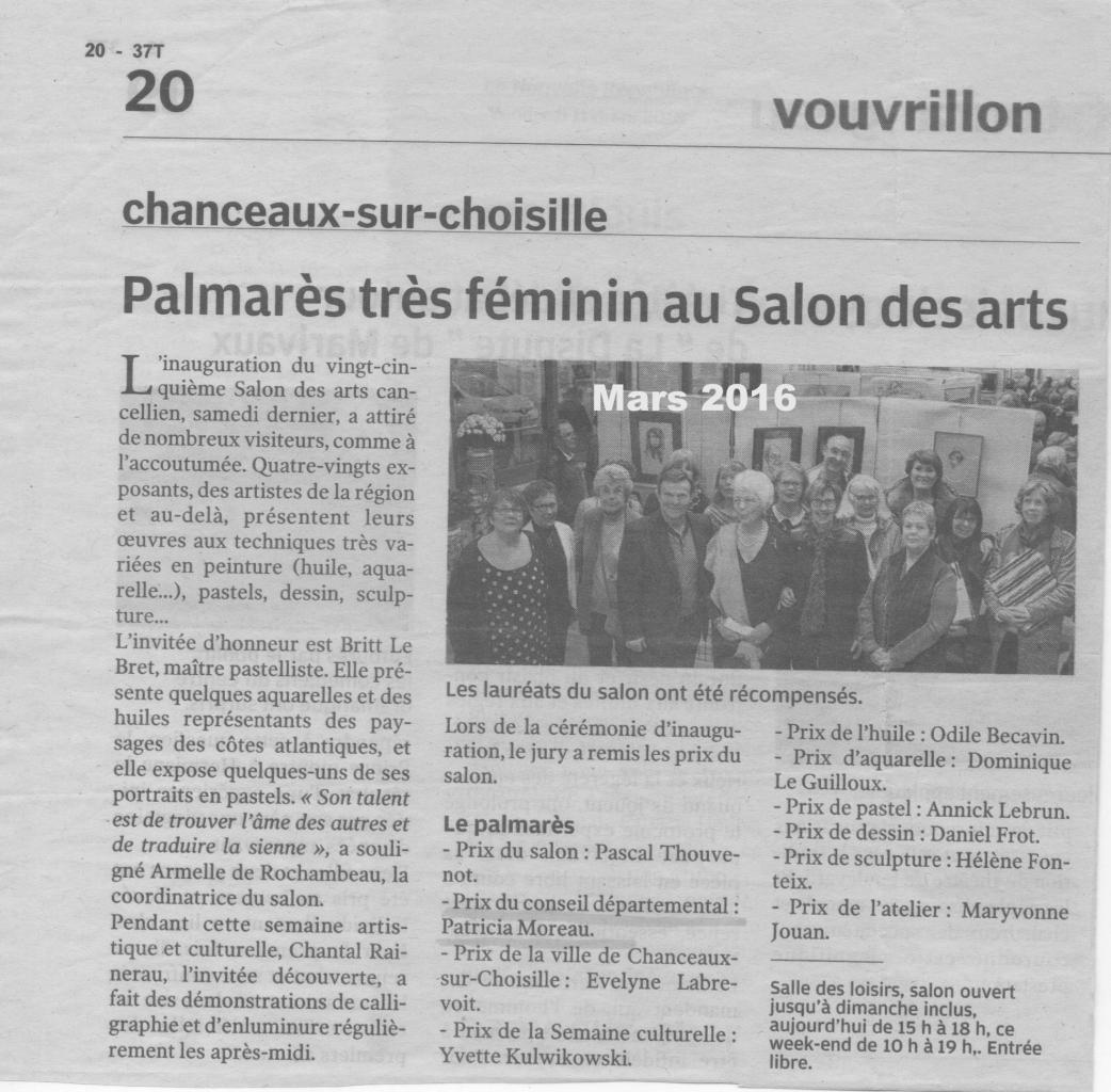 2016 salon de Chanceaux-sur-Choisille