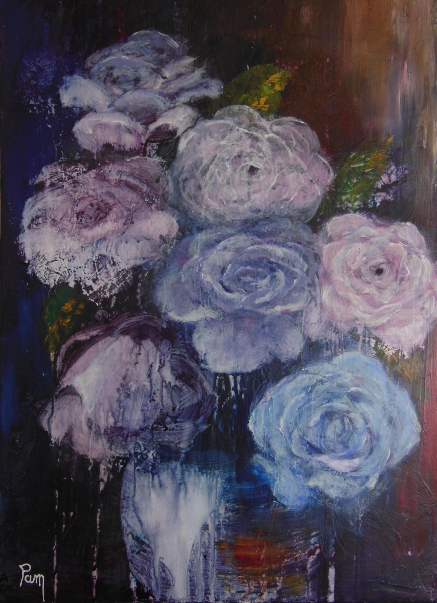 Bouquet 30x40 acrylique
