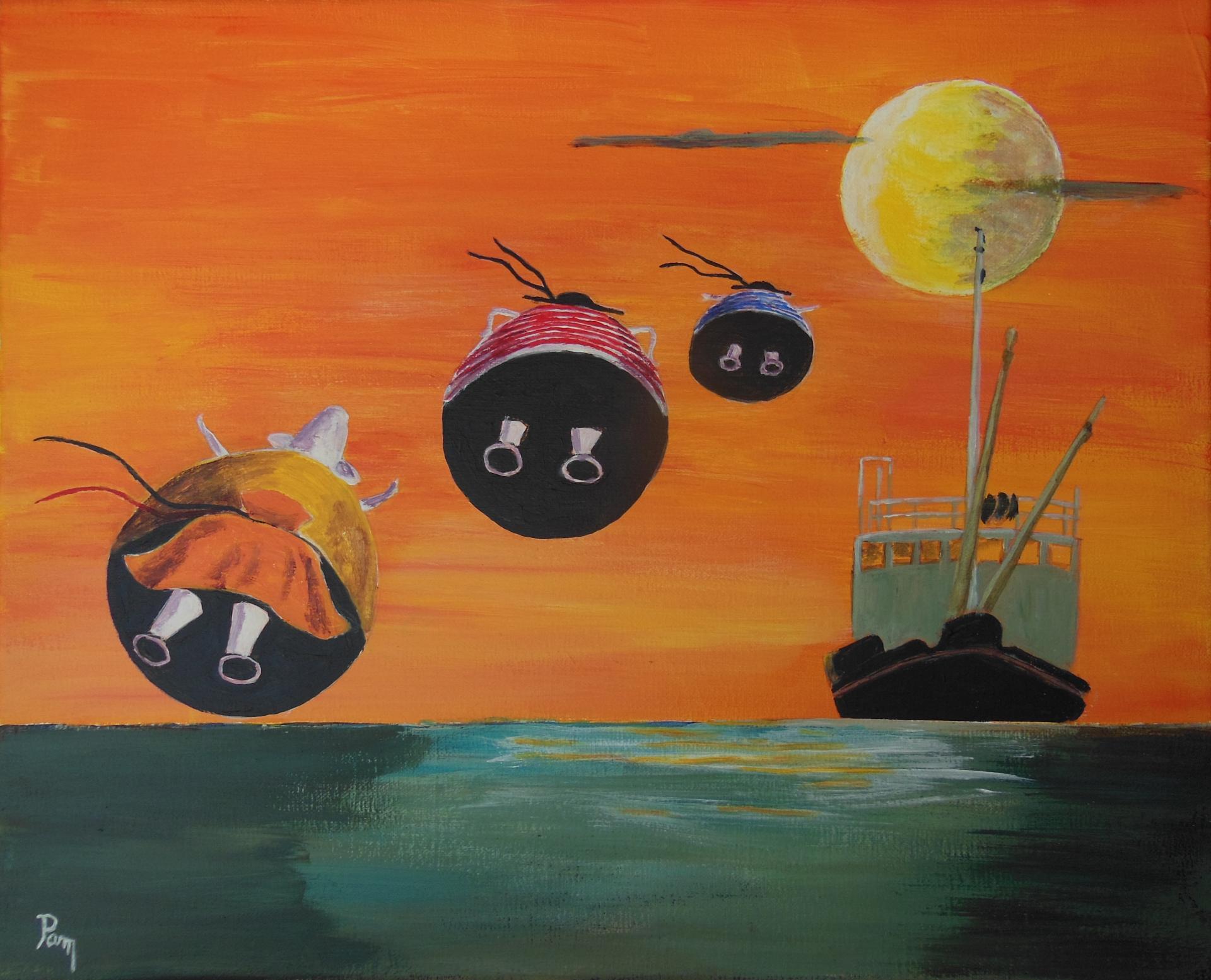 Clair de lune 46x38 acrylique