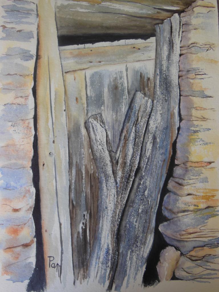 De pierre et de bois 30 x 40 aquarelle