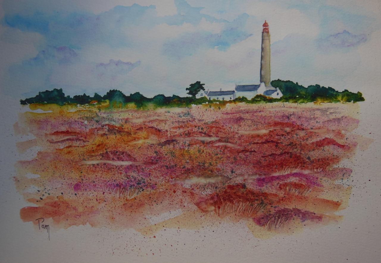 fin d'été à Belle-Ile 40x30 aquarelle
