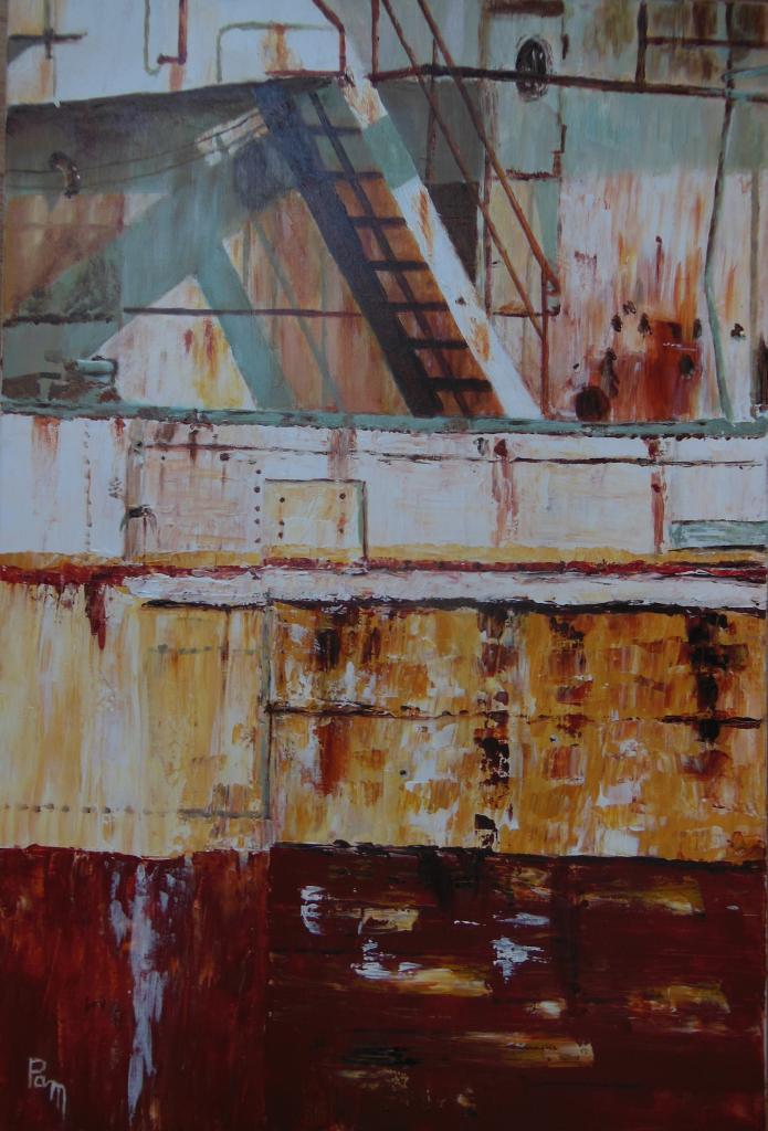 l'escalier 73x50 acrylique