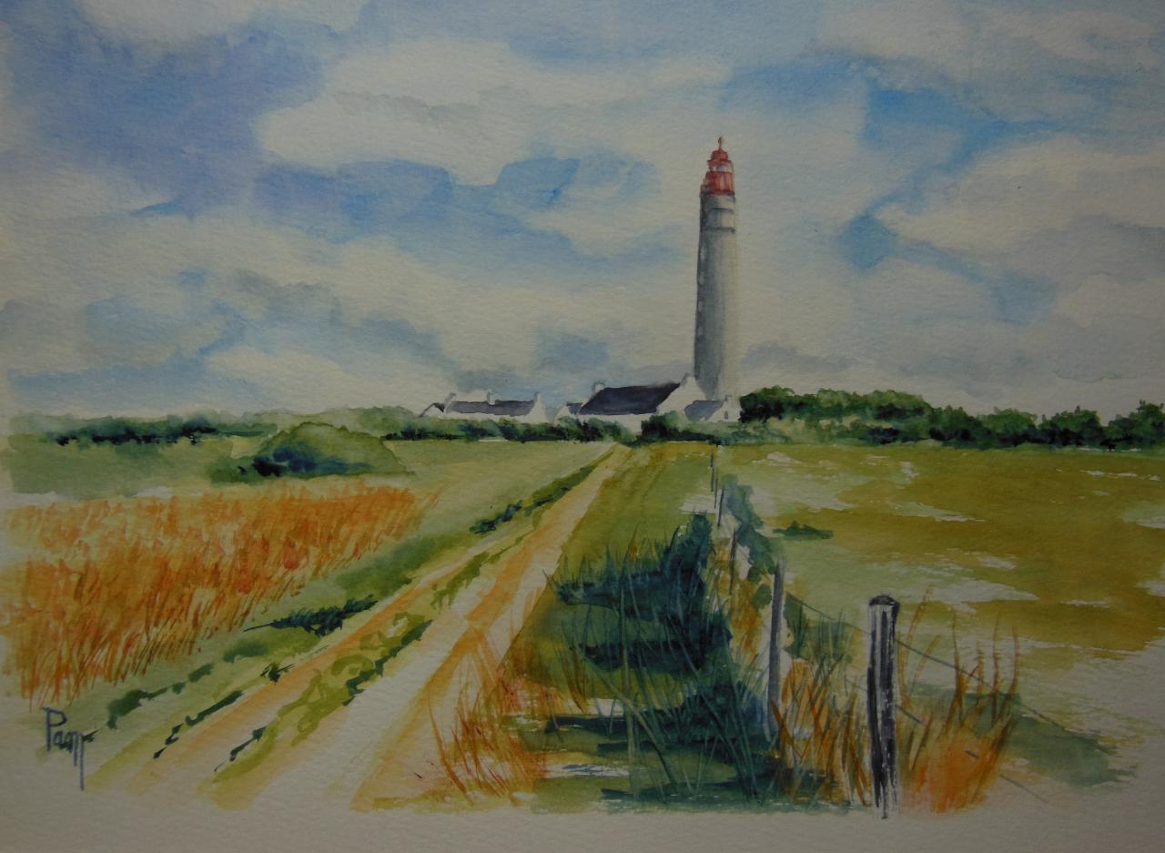 Le Grand Phare 40x30 aquarelle