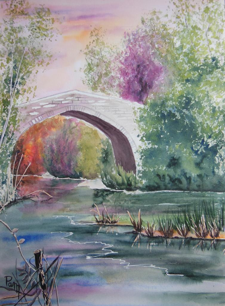 Pont génois 40 x 30 aquarelle
