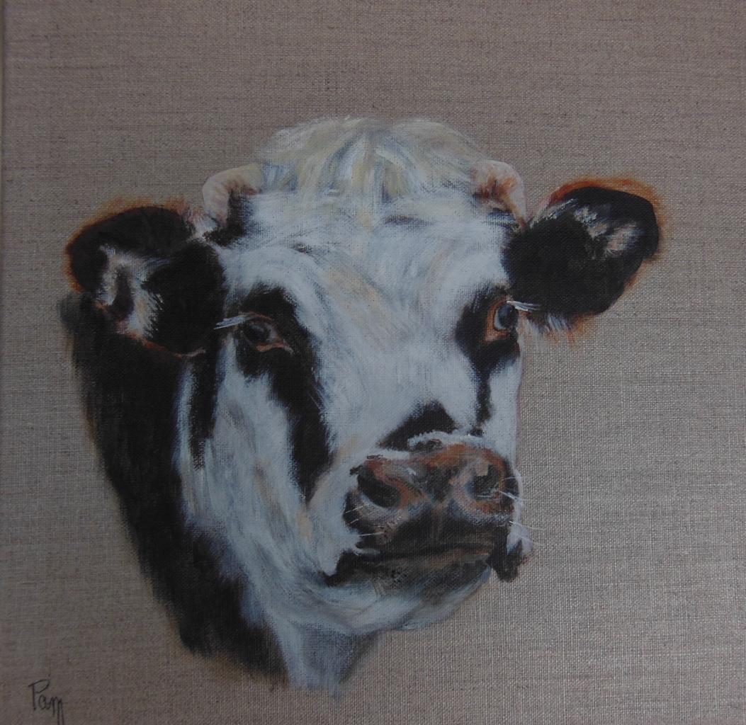 vache 2 30x30 acrylique